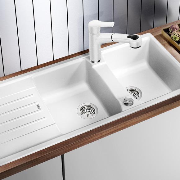 blanco lexa 8 s sp le b 116 t 50 cm becken silgranit puradur ii anthrazit 514708 reuter. Black Bedroom Furniture Sets. Home Design Ideas