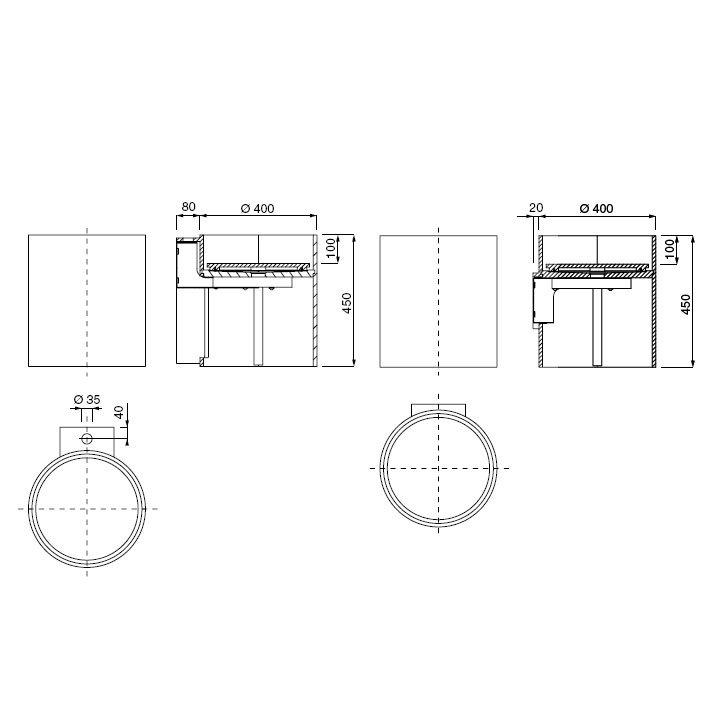 boffi phw wnphaa01 waschbecken 40 cm corian ohne armaturbohrung wnphaa01 reuter onlineshop. Black Bedroom Furniture Sets. Home Design Ideas