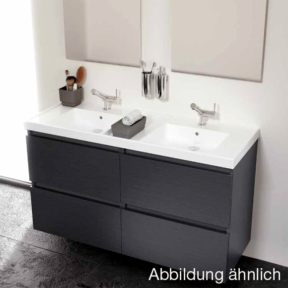 cosmic b box doppel waschtisch mit unterschrank mit 4 schubladen b 120 h 69 t 45 cm esche. Black Bedroom Furniture Sets. Home Design Ideas