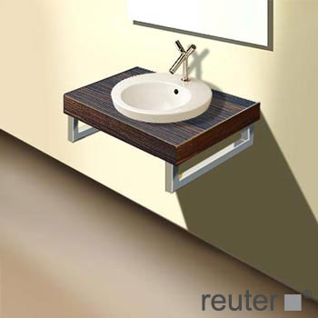duravit fogo konsolenplatte f r 1 becken amerikanischer nu baum echtholzfurnier 80 cm. Black Bedroom Furniture Sets. Home Design Ideas