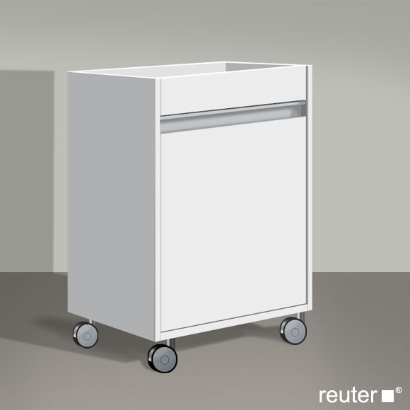 duravit ketho rollcontainer weiss matt kt2530r1818 reuter onlineshop. Black Bedroom Furniture Sets. Home Design Ideas