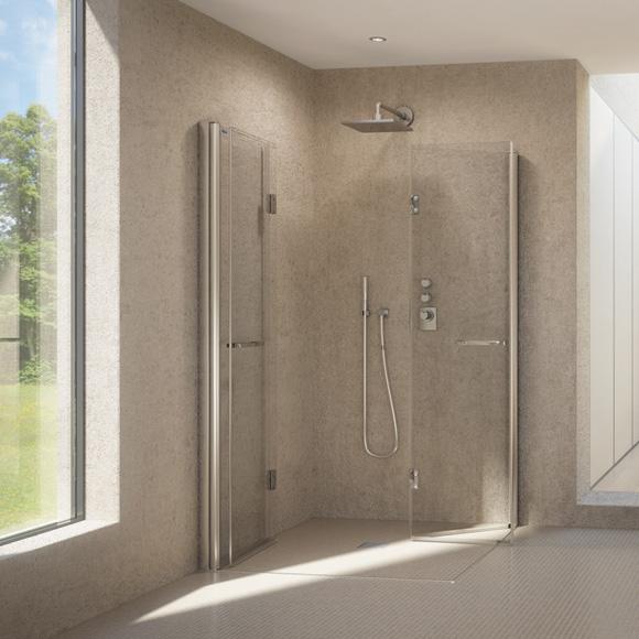 duscholux bella vita nova drehfaltt r f r eckeinstieg silber esg 341423020551070 reuter. Black Bedroom Furniture Sets. Home Design Ideas