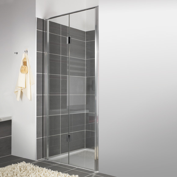 duscholux bella vita nova drehfaltt r in nische platinum silber esg 341111221551062 reuter. Black Bedroom Furniture Sets. Home Design Ideas
