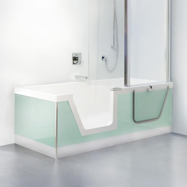 duscholux step in pure badewanne mit entnehmbarem t reinsatz l 170 b 75 cm 608300100001. Black Bedroom Furniture Sets. Home Design Ideas