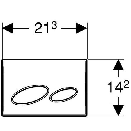 geberit kappa20 bet tigungsplatte f r 2 mengen sp lung von oben vorne wei 115228111 reuter. Black Bedroom Furniture Sets. Home Design Ideas