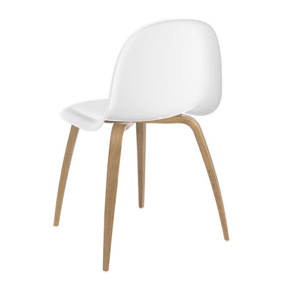 gubi chair 5 stuhl m holzbeinen 21001 5 01 eiche weiss reuter. Black Bedroom Furniture Sets. Home Design Ideas