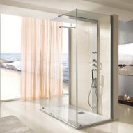 Hoesch THASOS Duschwand mit Duschsäule, Vorwandversion