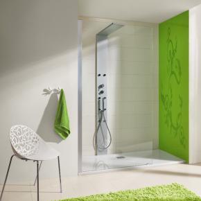 Hoesch THASOS Duschwand mit Duschsäule für Nische