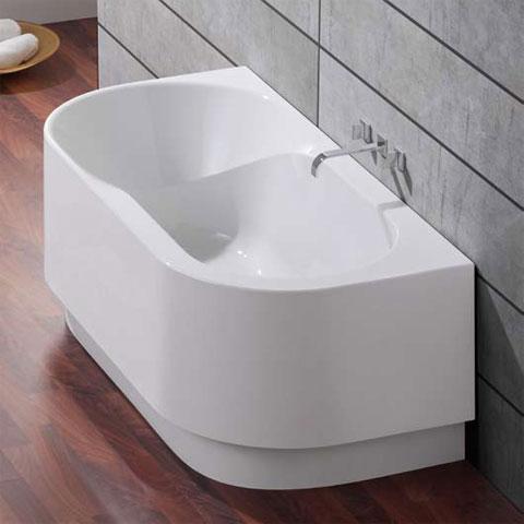 hoesch spectra halbrunde badewanne mit angeformter sch rze wei reuter onlineshop. Black Bedroom Furniture Sets. Home Design Ideas
