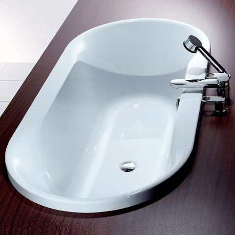 hoesch spectra ovale badewanne wei reuter onlineshop. Black Bedroom Furniture Sets. Home Design Ideas