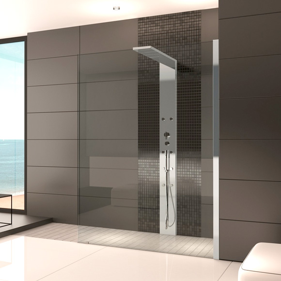 hoesch thasos duschwand mit duschs ule eckversion reuter onlineshop. Black Bedroom Furniture Sets. Home Design Ideas