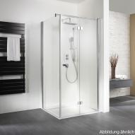 HSK Exklusiv Seitenwand für Drehtür mit Handtuchhalter klar hell / silber matt, WEM 88,5-90,5 cm