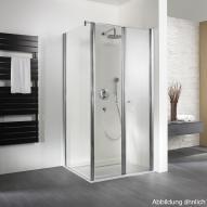 HSK Exklusiv Seitenwand für Pendeltür mit Handtuchhalter klar hell / silber matt, WEM 88,5-90,5 cm