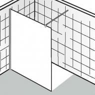 HSK Walk In Atelier Frontelement Edelglas, klar hell / chromoptik