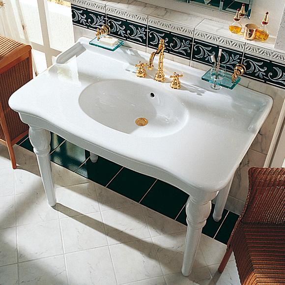 j rger delphi waschtisch wei mit 1 hahnloch 10951010100. Black Bedroom Furniture Sets. Home Design Ideas