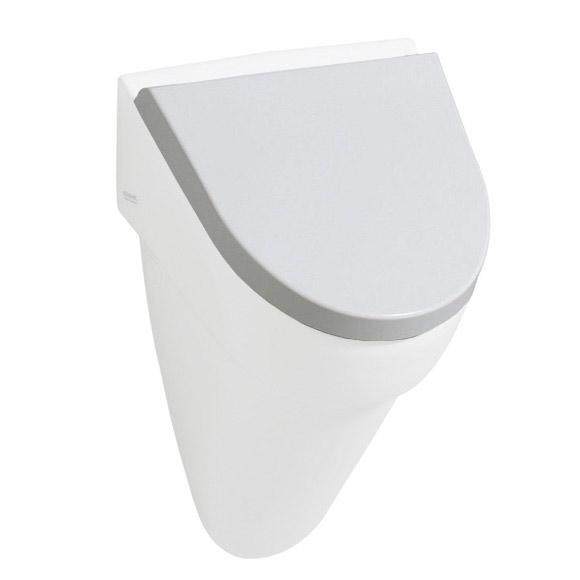 keramag flow urinal deckel wei scharniere edelstahl mit absenkautomatik 575905000 reuter. Black Bedroom Furniture Sets. Home Design Ideas