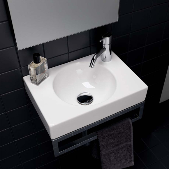 keramag preciosa ii handwaschbecken wei 273240000. Black Bedroom Furniture Sets. Home Design Ideas