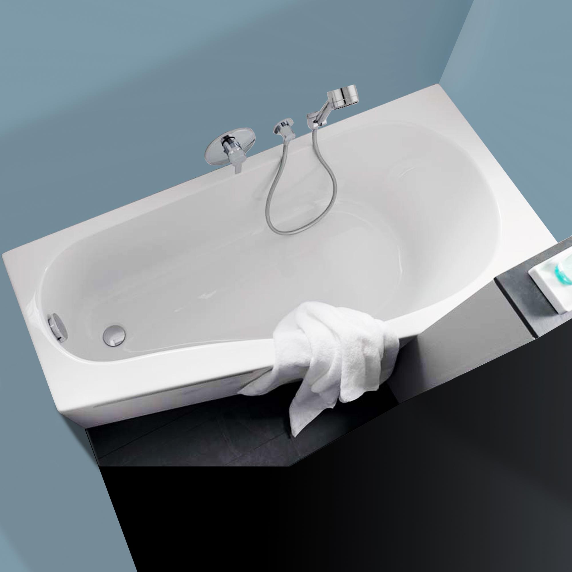 keramag renova nr 1 comprimo raumspar badewanne links wei 657261000 reuter onlineshop. Black Bedroom Furniture Sets. Home Design Ideas