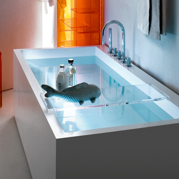 kartell by laufen ablage f r badewanne kristallklar 3853320840001 reuter onlineshop. Black Bedroom Furniture Sets. Home Design Ideas