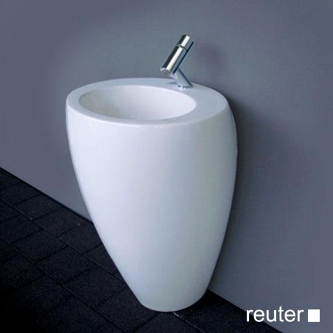 laufen alessi one waschtisch mit integrierter s ule wei. Black Bedroom Furniture Sets. Home Design Ideas