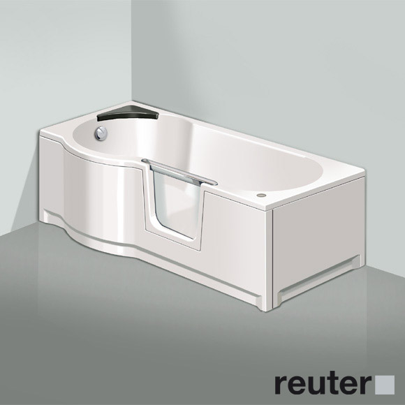 badewanne mit t r saniku komfort 170 x 80 cm pictures to pin on pinterest. Black Bedroom Furniture Sets. Home Design Ideas