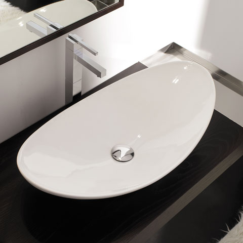 scarabeo zefiro aufsatzwaschtisch wei 8206 reuter onlineshop. Black Bedroom Furniture Sets. Home Design Ideas