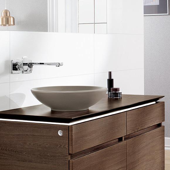 villeroy boch loop friends aufsatzwaschtisch rund timber mit. Black Bedroom Furniture Sets. Home Design Ideas