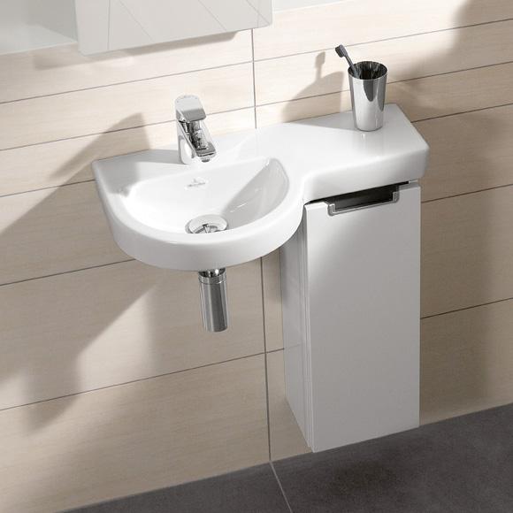 villeroy boch subway 2 0 handwaschbecken unterschrank mit 1 t r seitlich glossy white. Black Bedroom Furniture Sets. Home Design Ideas