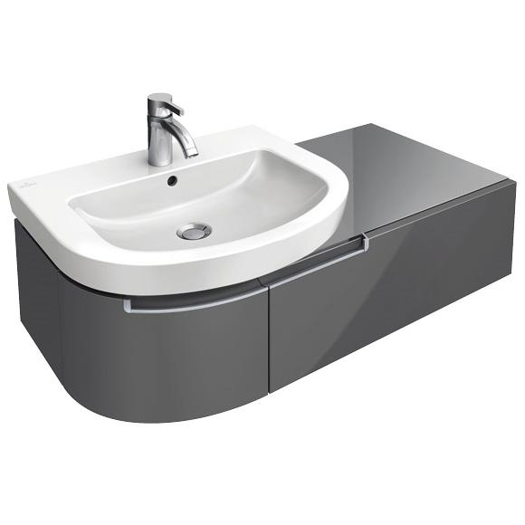 villeroy boch subway 2 0 waschtischunterschrank mit 1 auszug und 1 t r glossy white. Black Bedroom Furniture Sets. Home Design Ideas