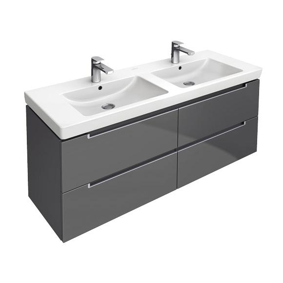 villeroy boch subway 2 0 waschtischunterschrank mit 4 ausz gen glossy white a69900dh. Black Bedroom Furniture Sets. Home Design Ideas