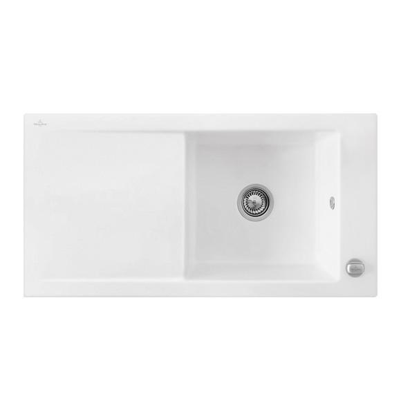villeroy boch timeline 60 sp le mit excenterbet tigung b 100 t 51 cm wei alpin gl nzend. Black Bedroom Furniture Sets. Home Design Ideas