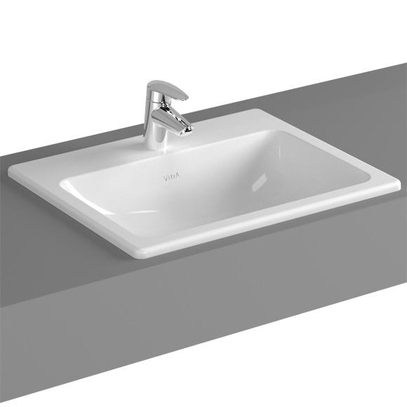 vitra s20 einbauwaschtisch mit 1 hahnloch 5465b003 0001. Black Bedroom Furniture Sets. Home Design Ideas