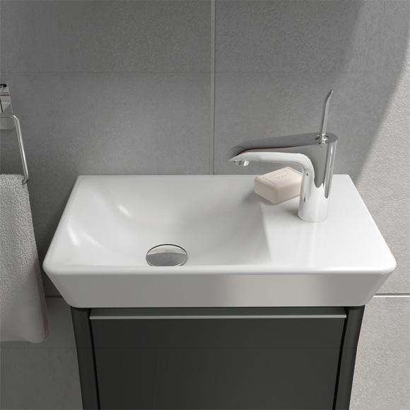 vitra t4 compact waschtisch becken links wei mit 1 hahnloch 4458b003 0041 reuter onlineshop. Black Bedroom Furniture Sets. Home Design Ideas